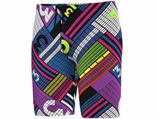 Adidas Clubline Pulse Grafik Jammer Badehose 44 cm, Infinitex+ - 5 black/shock purple