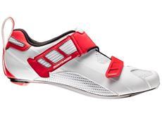Bontrager Woomera Triathlon Schuh - 46 white/red