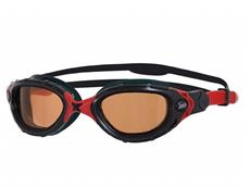 Zoggs Predator Flex Polarized Ultra Schwimmbrille black-red/polarized