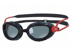 Zoggs Predator Wiro-Frame Polarized Schwimmbrille black-red/polarized smoke