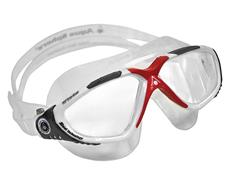 Aqua Sphere Vista Schwimmbrille - white-dark grey-red/clear