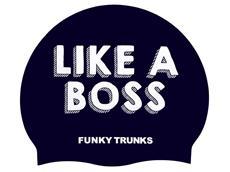Funky Trunks Like a Boss Silikon Badekappe