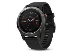 Garmin Fenix 5 GPS Multisportuhr grau schwarzes Armband