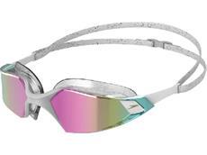 Speedo Aquapulse Pro Mirror Schwimmbrille white-clear/purple gold