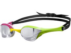 Arena Cobra Ultra Mirror Schwimmbrille - silver/green/pink