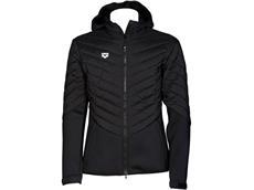 Arena Cocoonwear Half-Quilted Hooded Jacket Kaputzenjacke - XXL black