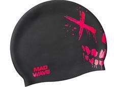 Mad Wave Crazy Scull Junior Silikon Badekappe