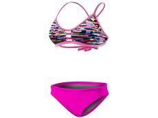 TYR Drift Schwimmbikini Tieback Top + Bikini Bottom pink
