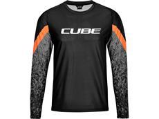 Cube Edge Rundhalstrikot langarm