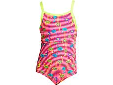 Funkita Flaming Stripes Toddler Girls Badeanzug - 116 (5)