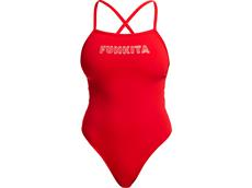 Funkita Fire Solid Ladies Badeanzug Tie Me Tight