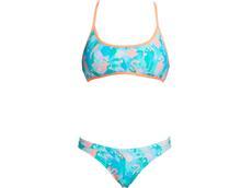 Funkita Pastel Paradise Ladies Schwimmbikini Cross Back Tie Top + Hipster Brief