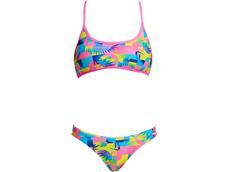 Funkita Sunkissed Ladies Schwimmbikini Cross Back Tie Top + Hipster Brief