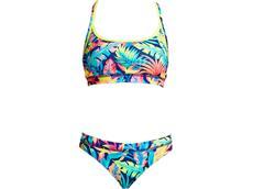 Funkita Eco Palm Off Ladies Schwimmbikini Sports Top + Sports Brief