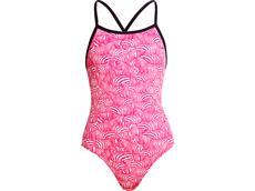 Funkita Painted Pink Girls Badeanzug Eco Tie Me Tight