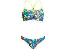 Funkita Gettin Jiggy Ladies Schwimmbikini Swim Crop Top + Hipster Brief