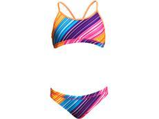 Funkita Fine Lines Girls Schwimmbikini Racerback