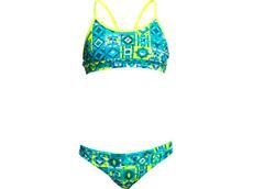 Funkita Lime Light Girls Schwimmbikini Racerback