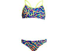 Funkita Noodle Bar Ladies Schwimmbikini Sports Top + Sports Brief