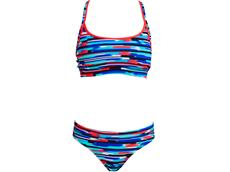 Funkita Meshed Up Ladies Schwimmbikini Sports Top + Sports Brief