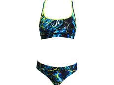 Funkita Midnight Marble Ladies Schwimmbikini Sports Top + Sports Brief - 40 (14)