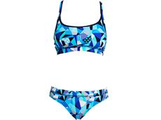 Funkita Crack Attack Ladies Schwimmbikini Sports Top + Sports Brief