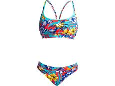 Funkita Aloha From Hawaii  Ladies Schwimmbikini Sports Top + Sports  Brief
