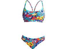 Funkita Aloha From Hawaii  Ladies Schwimmbikini Sports Top + Sports  Brief