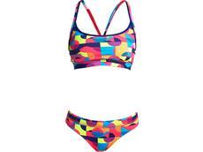 Funkita Mad Mist  Ladies Schwimmbikini Sports Top + Sports Brief