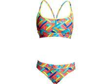 Funkita Panel Pop Ladies Schwimmbikini Sports Top + Sport Brief