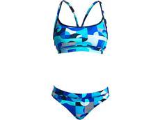 Funkita Sea Spray Ladies Schwimmbikini Sports Top + Sports  Brief