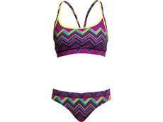 Funkita Knitty Gritty Ladies Schwimmbikini Sports Top + Sports Brief