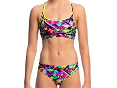 Funkita Spray On Ladies Schwimmbikini Sports Top + Sports Brief