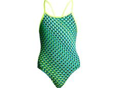 Funkita Green Gator Ladies Badeanzug Diamond Back