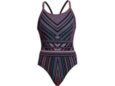 Funkita Stitched Up Ladies Badeanzug Diamond Back - 36 (10)