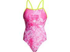 Funkita Pink Bliss Ladies Badeanzug Single Strap