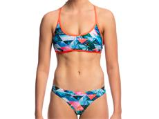 Funkita Split Scene Ladies Schwimmbikini Tie Down Top + Hipster Brief