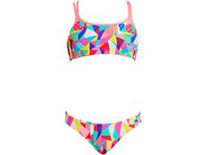 Funkita Pastel Patch Girls Schwimmbikini Criss Cross