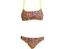 Funkita Fireworks Ladies Schwimmbikini Criss Cross Top + Bibi Banded Brief