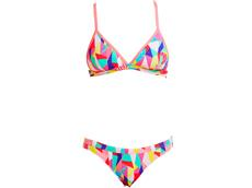 Funkita Pastel Patch Ladies Schwimmbikini Tri Top + Hipster Brief
