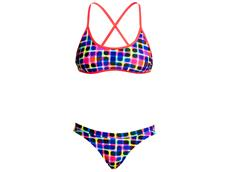 Funkita Inked Ladies Schwimmbikini Tie Down Top + Hipster Brief - 38 (12)