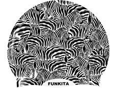 Funkita Zebra Crossing Silikon Badekappe