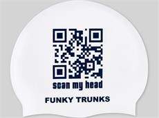 Funky Trunks Scan My Head Silikon Badekappe
