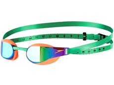 Speedo Fastskin Elite 3 Mirror Schwimmbrille fluo orange/lawn green