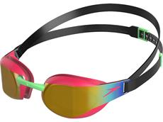 Speedo Fastskin Elite Mirror Junior Schwimmbrille black/phoenix red/gold