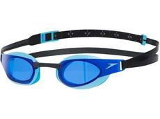 Speedo Fastskin Elite Schwimmbrille black/auea splash/blue