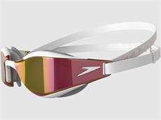 Speedo Fastskin Hyper Elite Mirror Schwimmbrille white/gold