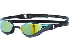 Speedo Fastskin Pure Focus Mirror Schwimmbrille - black-cool grey/blue-gold