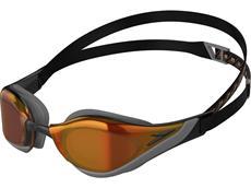 Speedo Fastskin Pure Focus Mirror Schwimmbrille black/orange-gold