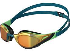 Speedo Fastskin Pure Focus Mirror Schwimmbrille nordic teal/green glow/gold